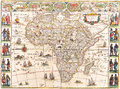 Map antique maps of the world of the world heinrich scherer c Royalty Free Stock Photos