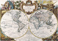 Map antique maps of the world of the world heinrich scherer c Stock Image