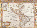 Map antique maps of the world of the world heinrich scherer c Stock Photography