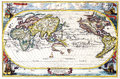 Map antique maps of the world of the world heinrich scherer c Royalty Free Stock Image