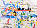 Map of Berlin Stock Photos