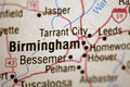 Map of Birmingham Royalty Free Stock Photography