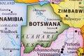 Map of Botswana Royalty Free Stock Photo