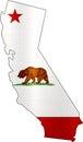 Map california flag illustration