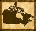 Map of Canada Royalty Free Stock Photo