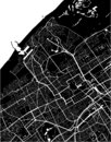 Map of the city of the Hague, Den Haag, Netherlands Royalty Free Stock Photo