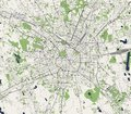 Map of the city of Milan, capital of Lombardy, Italy Royalty Free Stock Photo