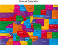 Map of Colorado Royalty Free Stock Photo