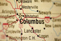 Map of Columbus Ohio Royalty Free Stock Photo