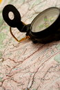 Map and compass Royalty Free Stock Photography