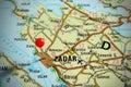 Map of Croatia - Zadar Royalty Free Stock Photo