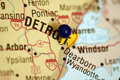 Map of Detroit Michigan Royalty Free Stock Photo