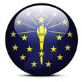 Map with Dot Pattern on flag button of USA Indiana State Royalty Free Stock Photo