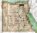 Map of egypt antique effect parchment Stock Photos