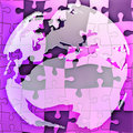 Map of Europe jigsaw Stock Photos