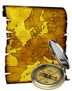Map of Europe in old style Stock Photo