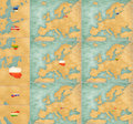 Map of europe summer style set file is bitmap graphic big maps have x px in the largest available licence estonia latvie lithuania Stock Image