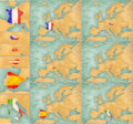 Map of europe summer style set file is bitmap graphic big maps have x px in the largest available licence france czech republic Stock Photos