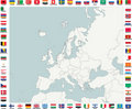 Map of European Countries Royalty Free Stock Photography