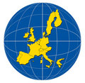 Map of the European Union Royalty Free Stock Image
