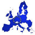 Map of European Union, isolated on white Royalty Free Stock Photo
