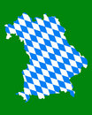 Map and flag of Bavaria Stock Photography