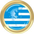 Map and flag from greece Royalty Free Stock Photography