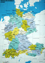 Map of Germany Royalty Free Stock Photo