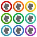 Map of Germany vector icons, set of colorful flat design buttons for webdesign and mobile applications Royalty Free Stock Photo