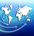 Map global business communication Stock Photo