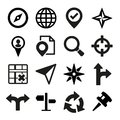 Map gps and navigation icons set vector illustration Stock Photo