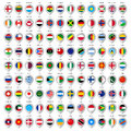 Map gray marker with flags big set Royalty Free Stock Photos