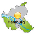 Map of Hamburg Stock Image