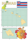 Map of Hawaii. Royalty Free Stock Photography