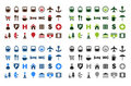 Map icons set Stock Photography