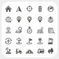 Map and location icons set eps don t use transparency Stock Images