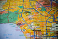 Map of Los Angeles Royalty Free Stock Photography