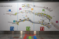 Map of madrid airport showing terminal directions Royalty Free Stock Photo