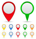 Map Markers Royalty Free Stock Photos