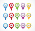 Map markers with numbers in white background Stock Photography