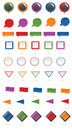 Map markers set Royalty Free Stock Photography