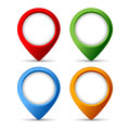 Map markers set isolated on white Royalty Free Stock Photos