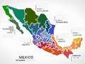 Royalty Free Stock Photo Map of Mexico