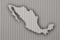 Map of Mexico on corrugated iron Royalty Free Stock Photo