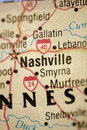Map of Nashville Tennessee Stock Photos