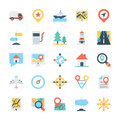 Map and Navigation Colored Vector Icons 2