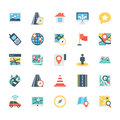 Map and Navigation Colored Vector Icons 3