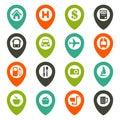 Map navigation icon set Royalty Free Stock Photo