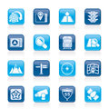 Map navigation and location icons vector icon set Stock Photos