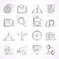 Map navigation and location icons vector icon set Stock Photo